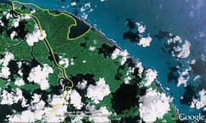 Google Nicaraguan map error threatens to escalate into ... on americas map, dominican republic map, russia map, cayman map, peru map, qatar map, guam map, corn islands map, norway map, haiti map, carribean map, india map, cuba map, romania map, sri lanka map, honduras map, panama map, mexico map, puerto rico map, costa rica map,