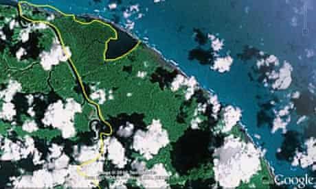 Google Nicaragua Costa Rica map