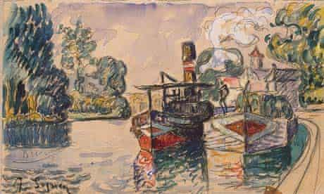 Fake of Signac boating scene