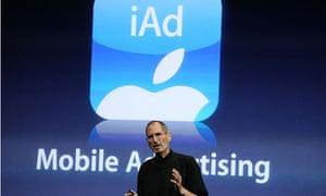 Apple's Steve Jobs announces iAd in the US in 2008