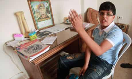 Palestinian boy Majed Rabah