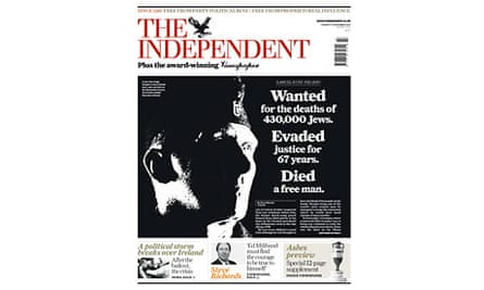 The Independent front page - 23 November 2010