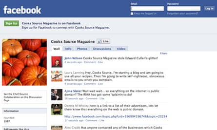 Cooks Source Facebook page