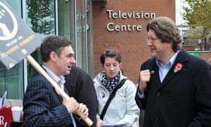 Newsnight economics editor Paul Mason confronts deputy director general Mark Byford