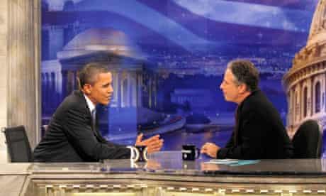 Barack Obama talks to Jon Stewart on The Daily Show