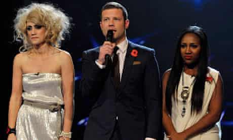 The X Factor 2010: Katie, Dermot and Treyc