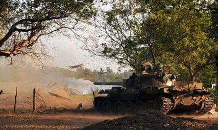 A tank in Mullaitivu, Sri Lanka