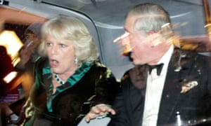Charles and Camilla's car is attacked by protesters