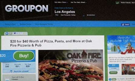 An online coupon sent via email from Groupon
