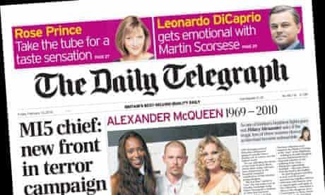 Daily Telegraph - February 12 2010