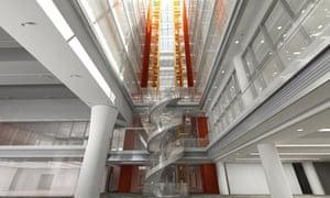 Artist's impression of newsroom at BBC Broadcasting House