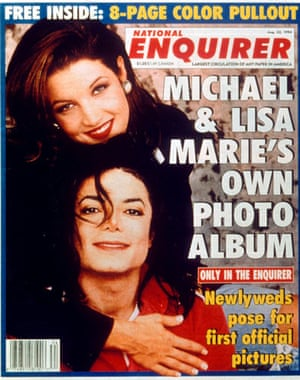National Enquirer: Michael Jackson with Lisa Marie Presley