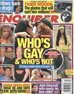 National Enquirer: The magazine claims to out celebrities