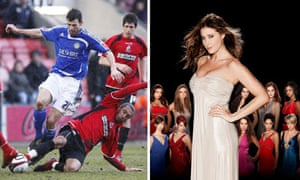 Bournemouth v Macclesfield in League Two and Britain's Top Model