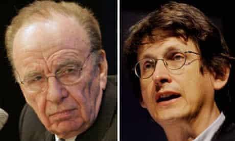 Rupert Murdoch and Alan Rusbridger