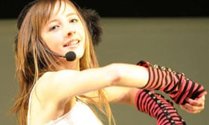Rebecca Flint, 14, performing as Beckii Cruel