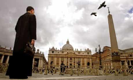 Vatican St Peter's Square priest