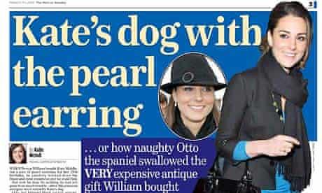 Mail on Sunday Kate Middleton story