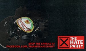 Marmite hate party ad