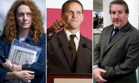 Rebekah Brooks, James Murdoch and Simon Kelner