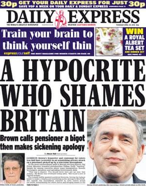Gordon Brown bigot row: Daily Express