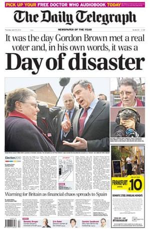 Gordon Brown bigot row: Daily Telegraph