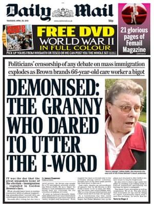 Gordon Brown bigot row: Daily Mail