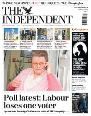 Gordon Brown bigot row: The Independent