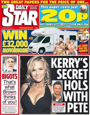 Gordon Brown bigot row: Daily Star