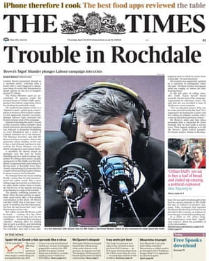 Gordon Brown bigot row: The Times