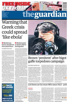 Gordon Brown bigot row: The Guardian