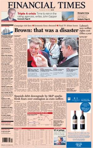 Gordon Brown bigot row: Financial Times