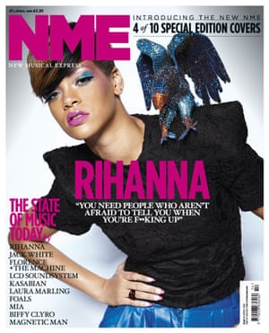 NME relaunch covers: Rihanna
