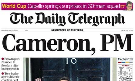Daily Telegraph Cameron, PM