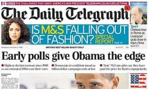 Telegraph Obama win