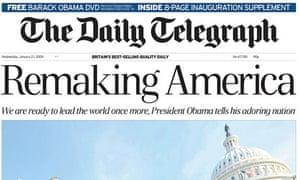 Telegraph Obama inauguration