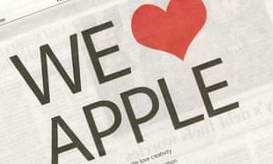 Adobe 'We love Apple' ad