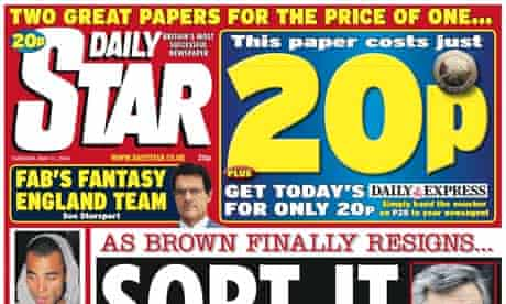 Daily Star: only year-on-year riser
