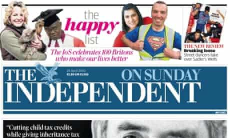 Independent on Sunday April 2010