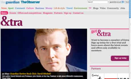 Guardian Extra website - launch day
