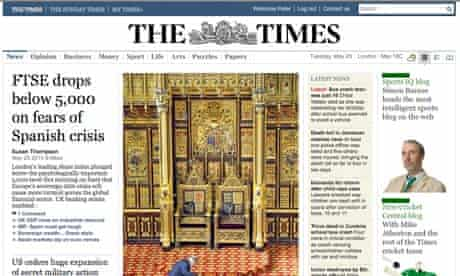 The Times website launch day