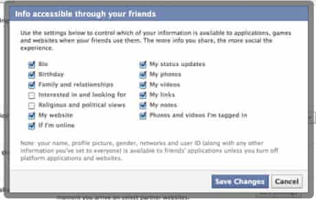 Facebook new privacy settings 06 Accessible through friends