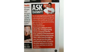 Danny Dyer Zoo advice column