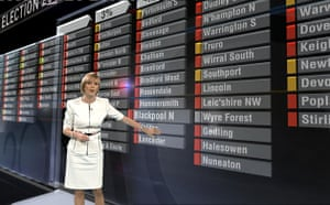 TV election coverage: Julie Etchingham with the interactive touchscreen