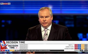 TV election coverage: Decision Time with Adam Boulton