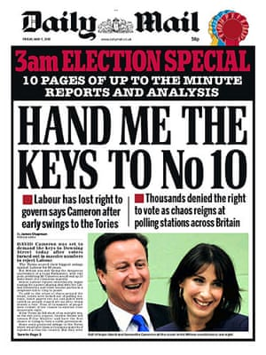 00 Late results splashes: 011 - Daily Mail 3rd