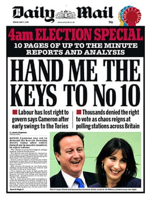 00 Late results splashes: 012 - Daily Mail 4th