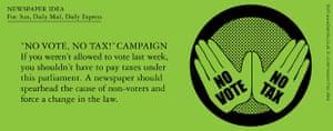 Benrik Pitch: 'No vote, no tax' campaign