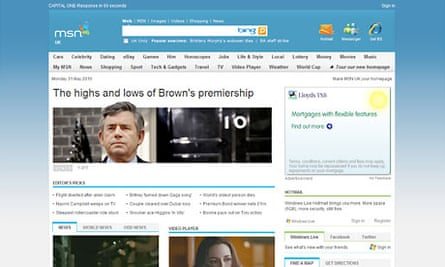 MSN homepage June 2010