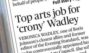 Evening Standard Wadley story